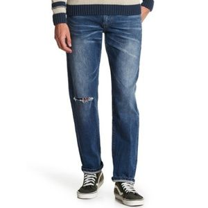 🆕 Lucky Brand 221 Straight Rip Mens Jeans 38 34